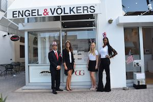 engel voelkers realtors get a treat during the 4th july parade in naples florida