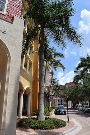 Naples Square is just across the street from Bayfront in Olde Naples