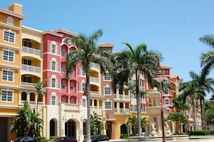 Apartments overlooking the Back Bay in Naples.