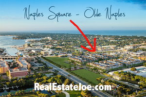 Location of Naples Square a new development in downtown Old Naples, Florida