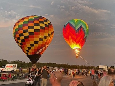 Orange Blossom Ranch is close to the balloon festival.