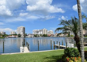 Waterfront property is always high in demand in Naples.